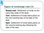 types of exchange rate 1