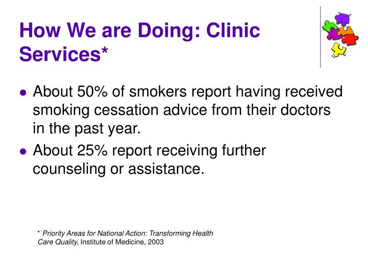 How We are Doing: Clinic Services*
