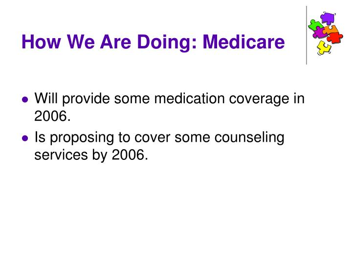 How We Are Doing: Medicare