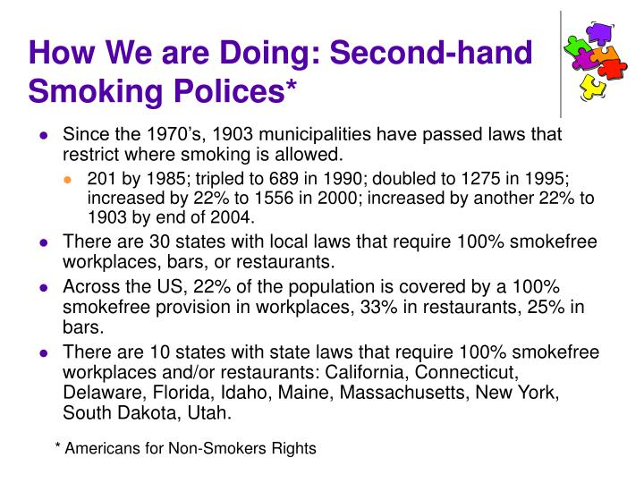 How We are Doing: Second-hand Smoking Polices*