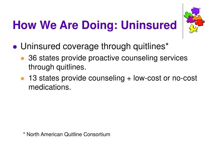 How We Are Doing: Uninsured