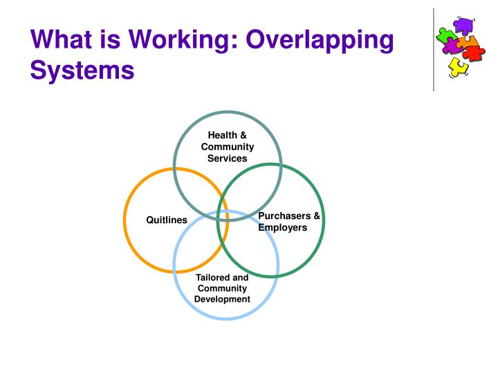 What is Working: Overlapping Systems