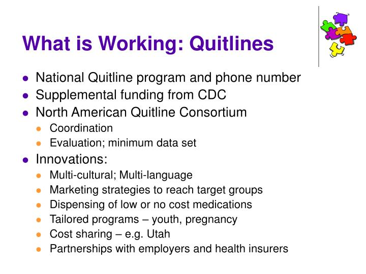 What is Working: Quitlines