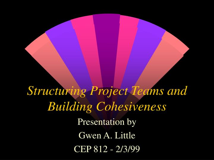 team structures and cohesiveness