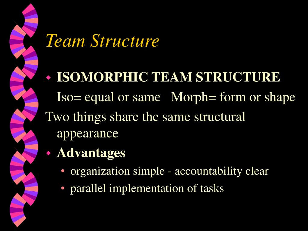 team structures and cohesiveness Defining characteristics of team cohesion-sports this structure varies from group to group and defining characteristics of team cohesion albert.