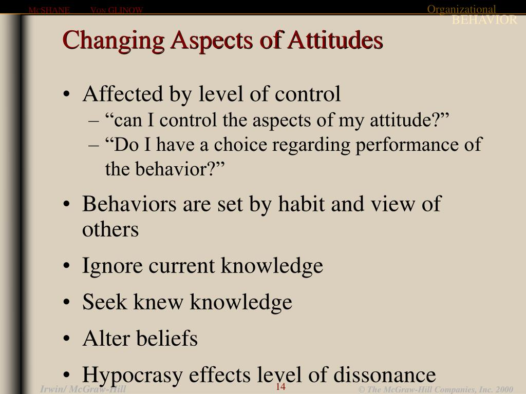 Changing Aspects of Attitudes
