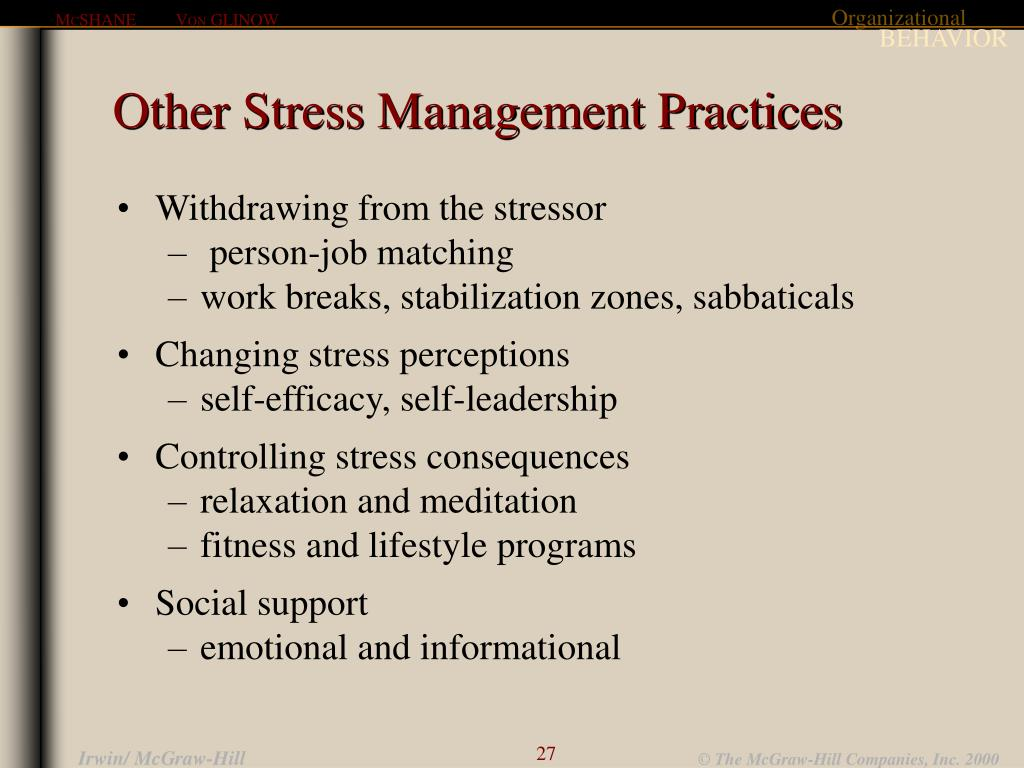 Other Stress Management Practices