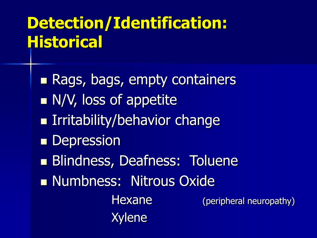 Detection/Identification:  Historical