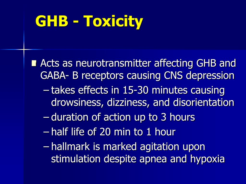 GHB - Toxicity