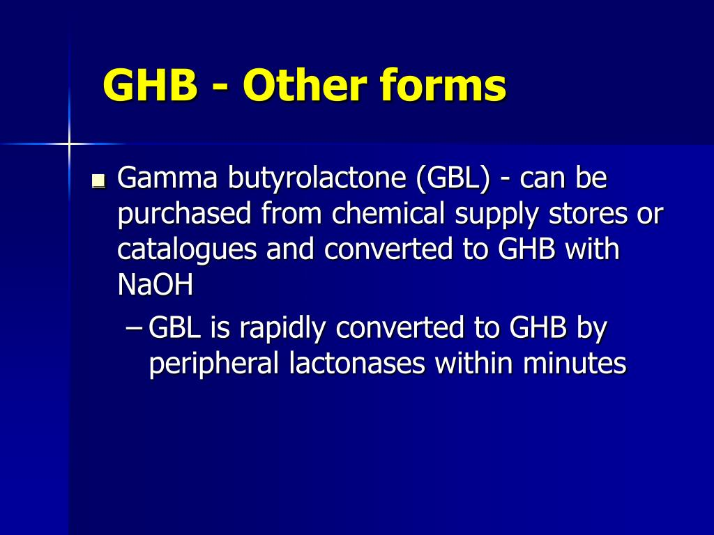 GHB - Other forms