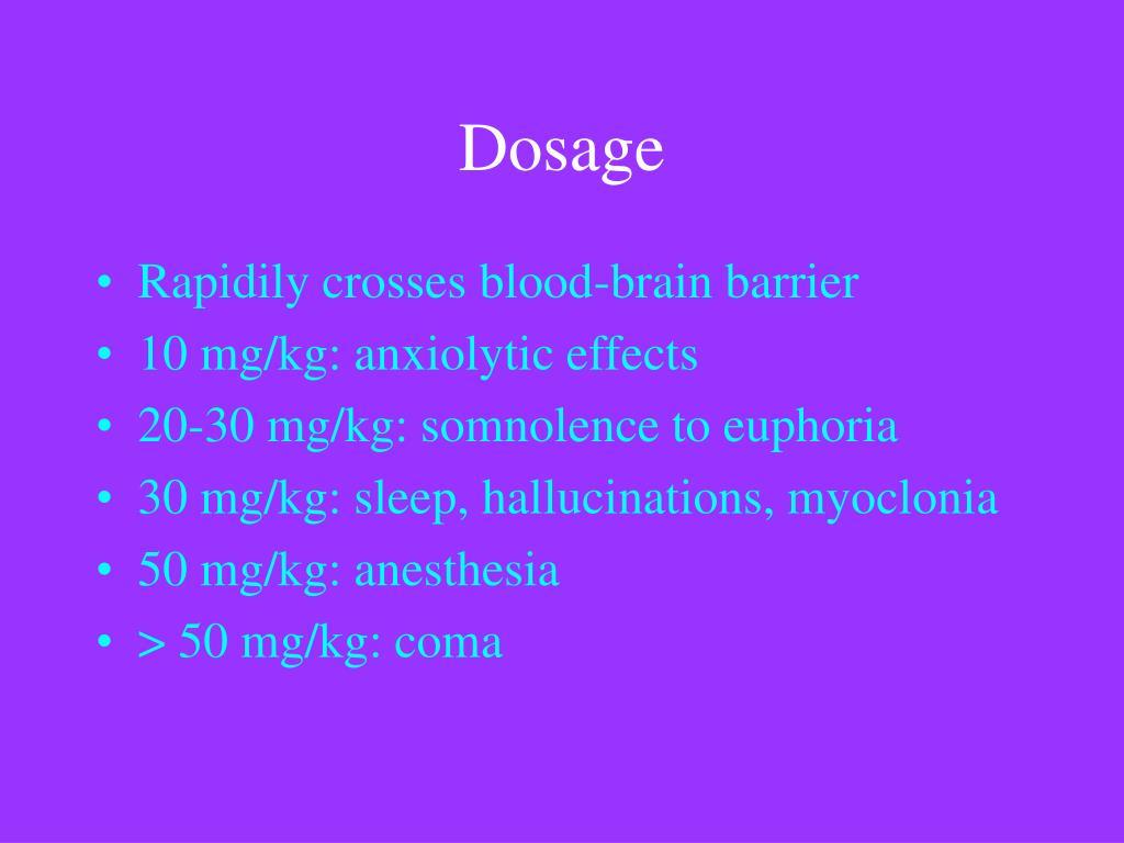 Dosage