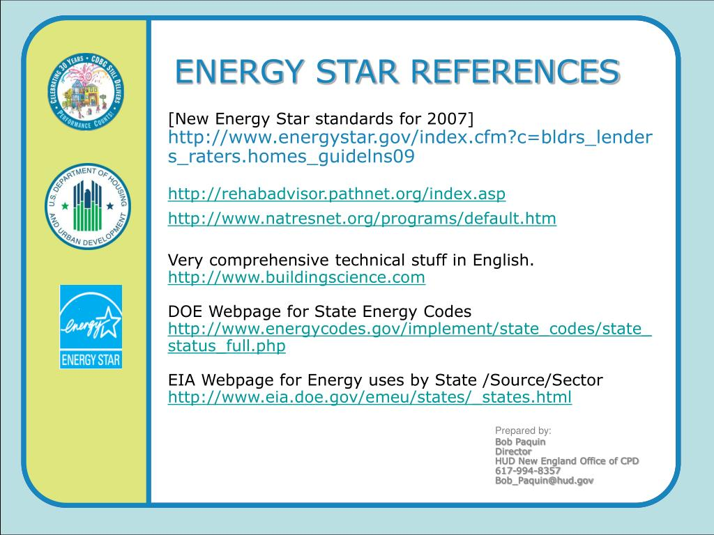 ENERGY STAR REFERENCES