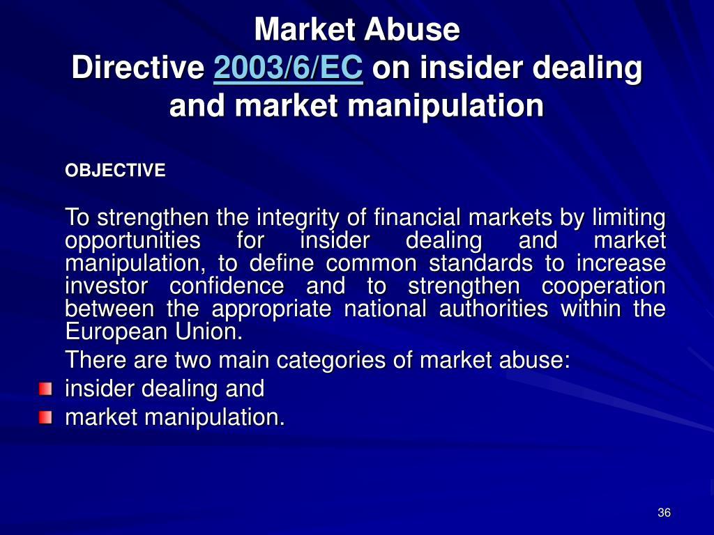 Market Abuse