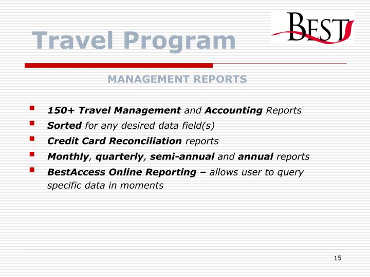 Travel Program