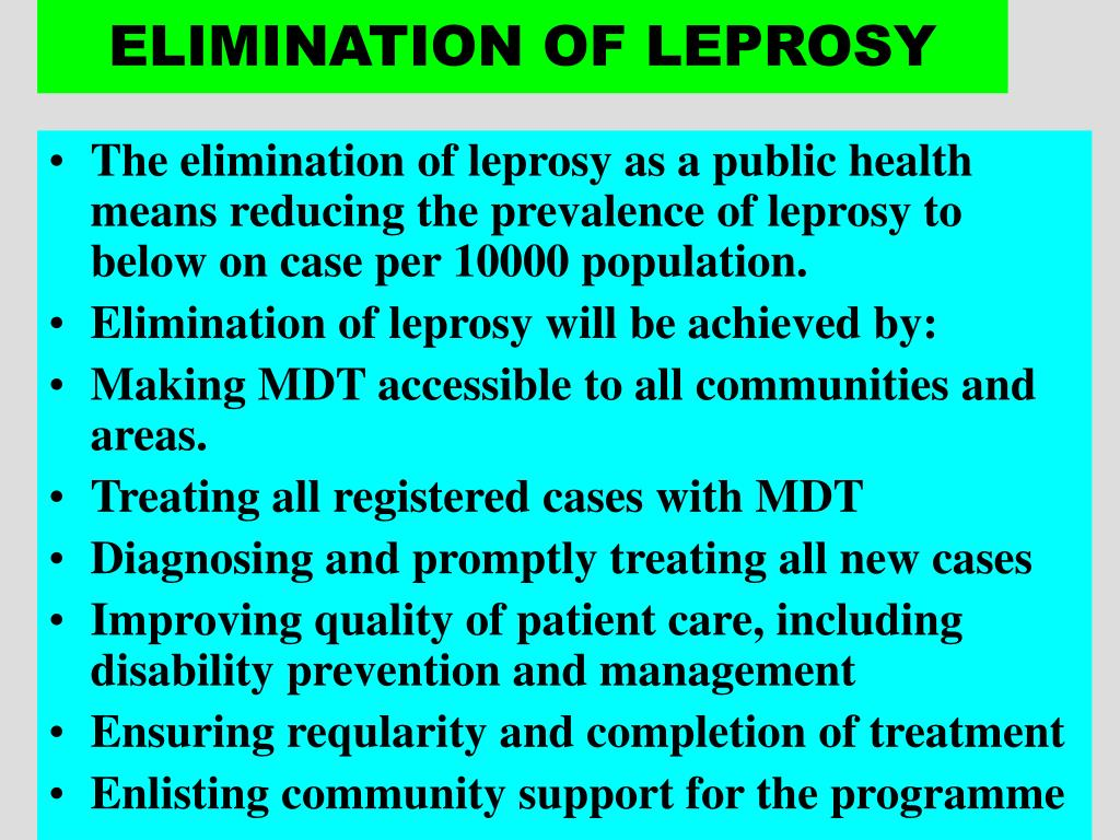 ELIMINATION OF LEPROSY