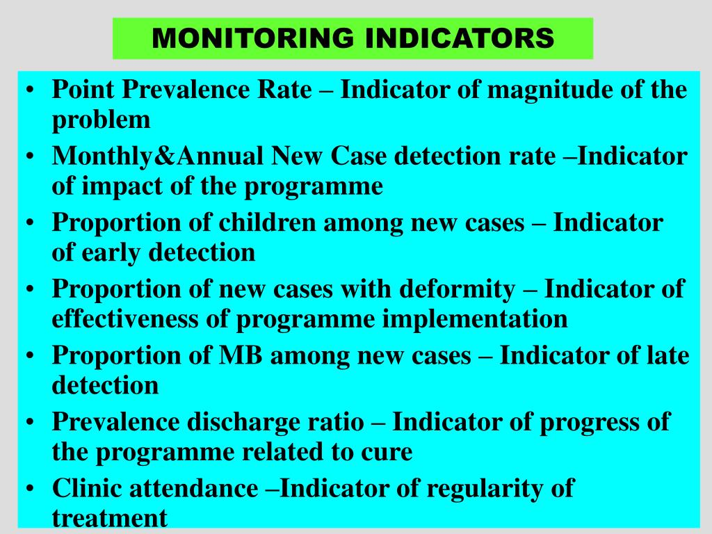 MONITORING INDICATORS