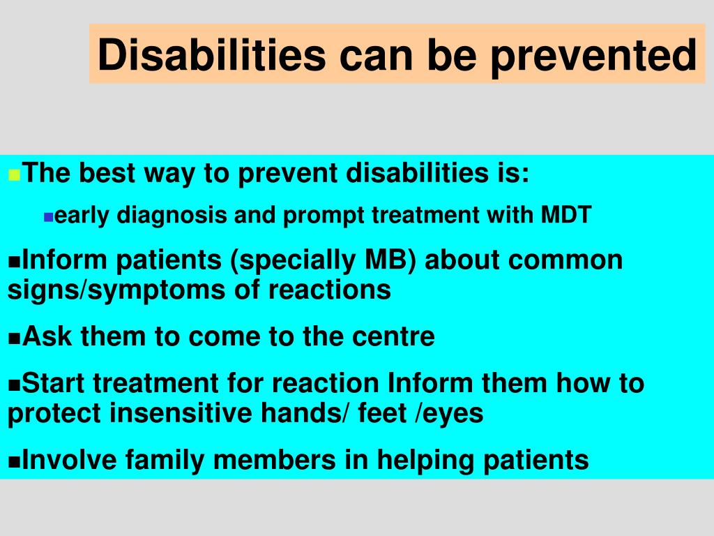 Disabilities can be prevented