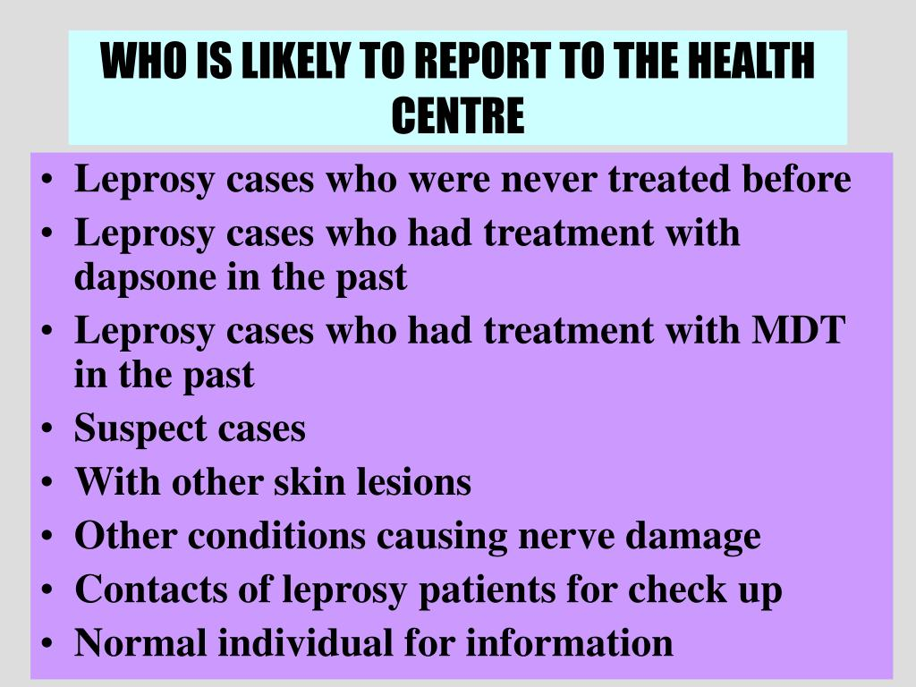 WHO IS LIKELY TO REPORT TO THE HEALTH CENTRE