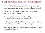 t cell activation step two co stimulation
