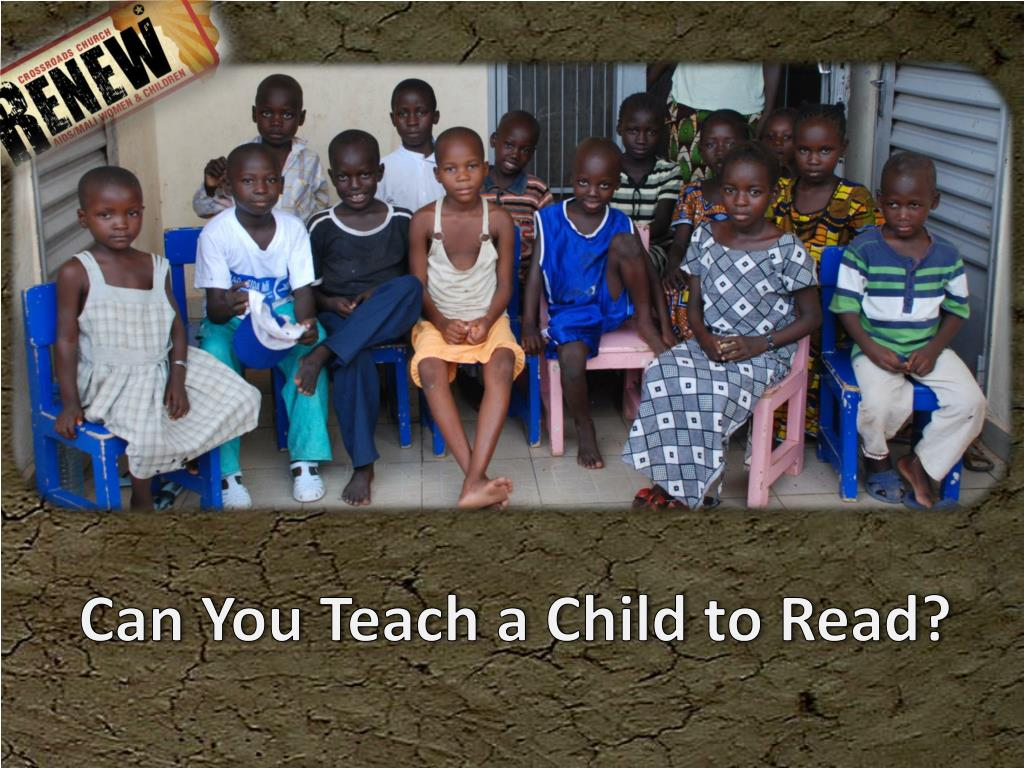 Can You Teach a Child to Read?