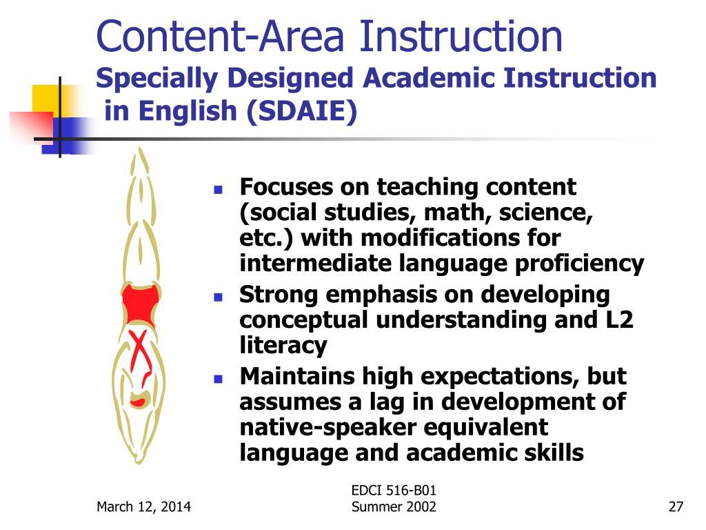 Content-Area Instruction