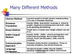 many different methods