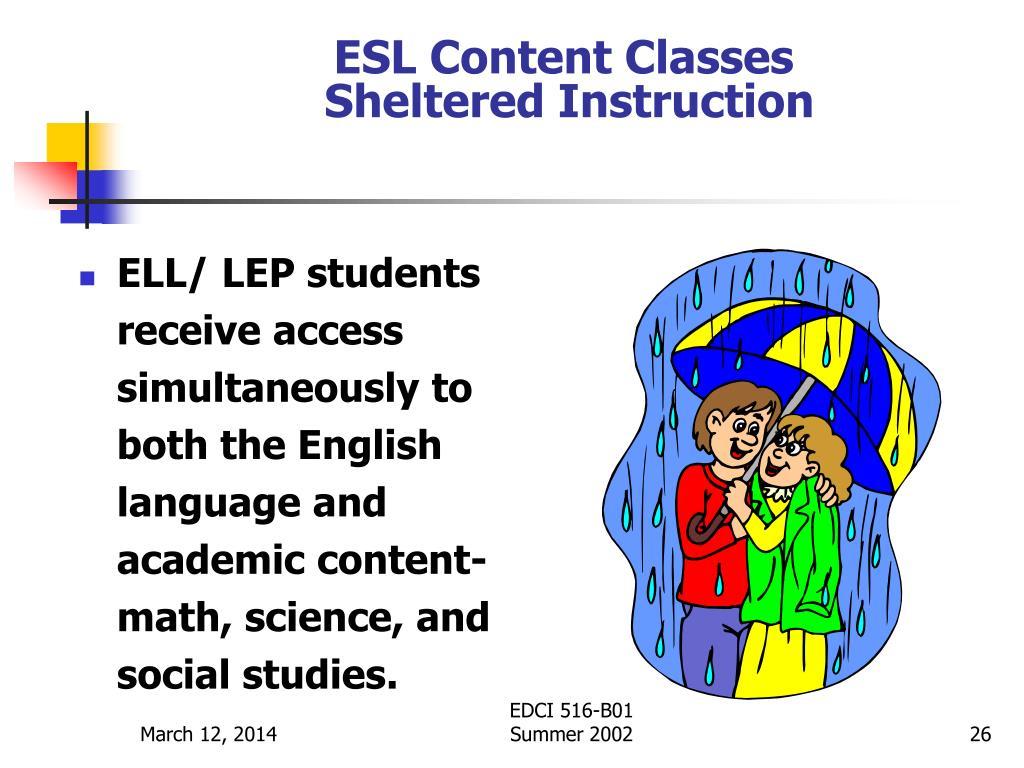 ESL Content Classes