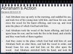 abraham s action genesis 22 3 6 9 10