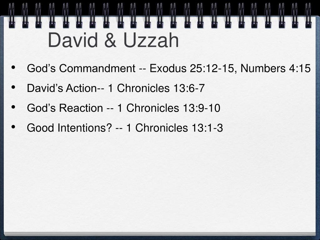 David & Uzzah