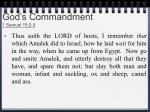 god s commandment 1 samuel 15 2 3