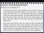 god s commandment exodus 25 12 15 numbers 4 15