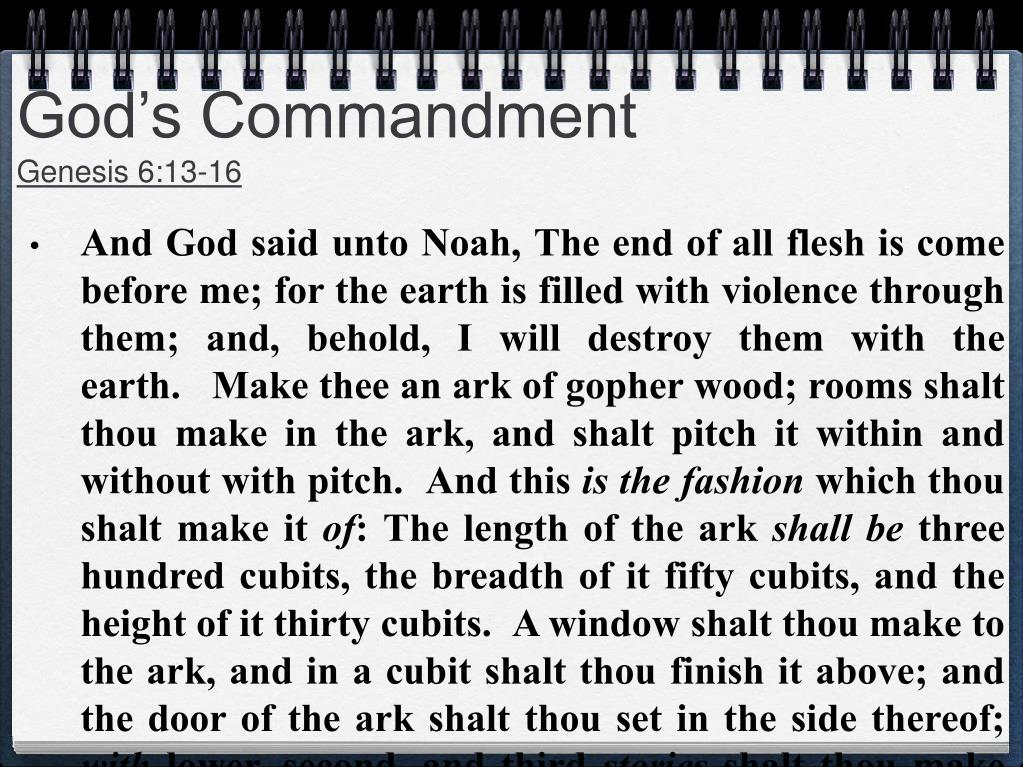 God's Commandment