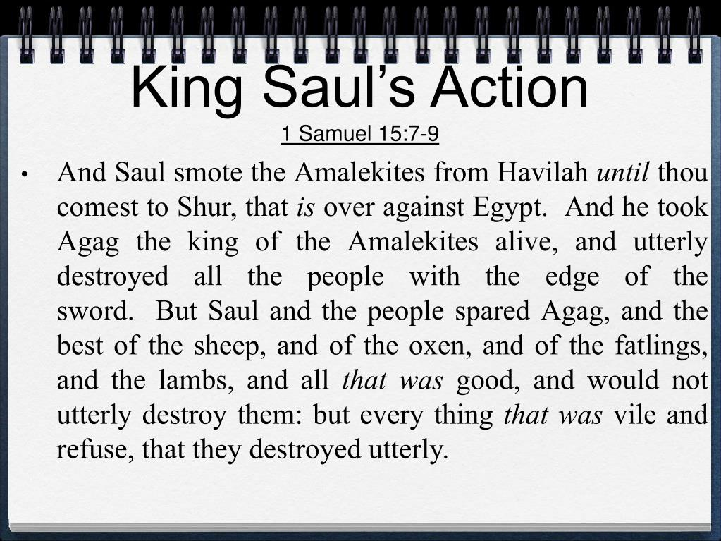 King Saul's Action