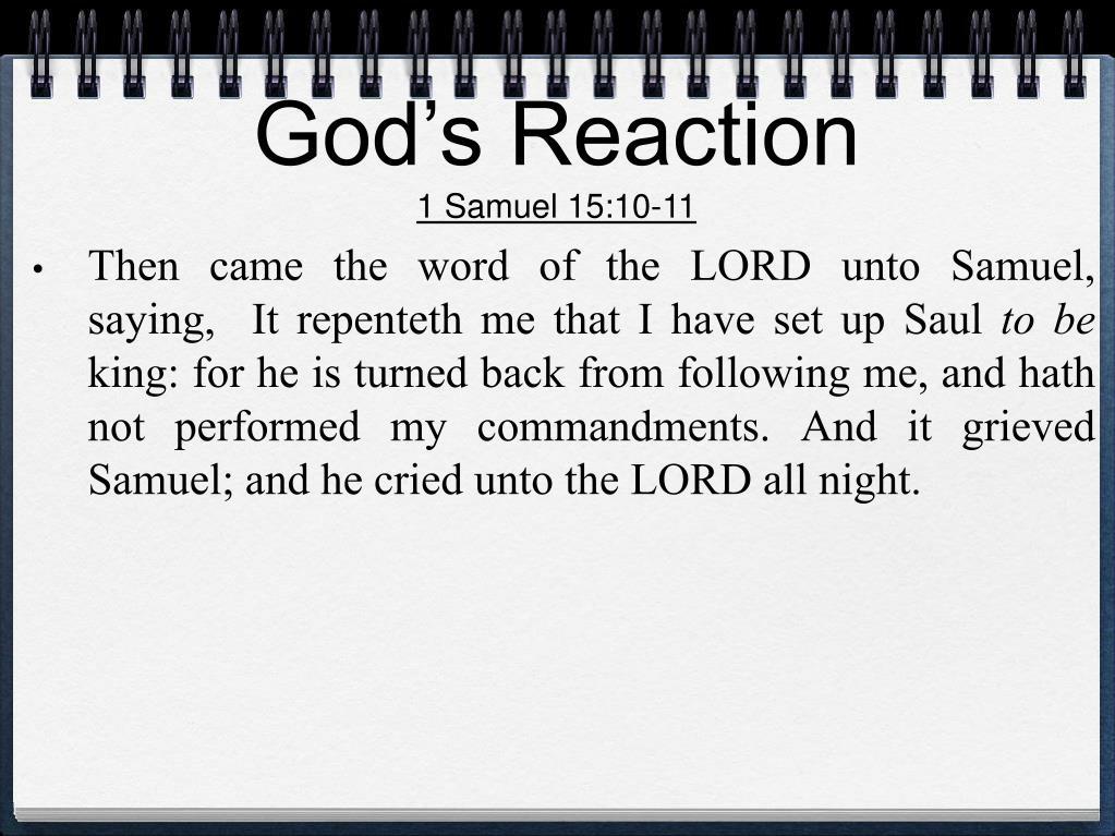 God's Reaction