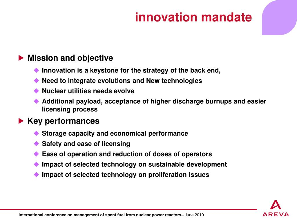 innovation mandate