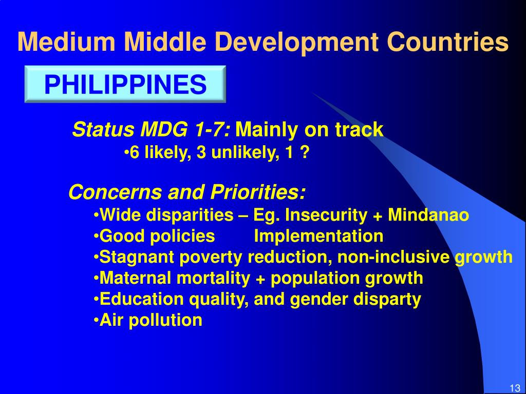 Medium Middle Development Countries