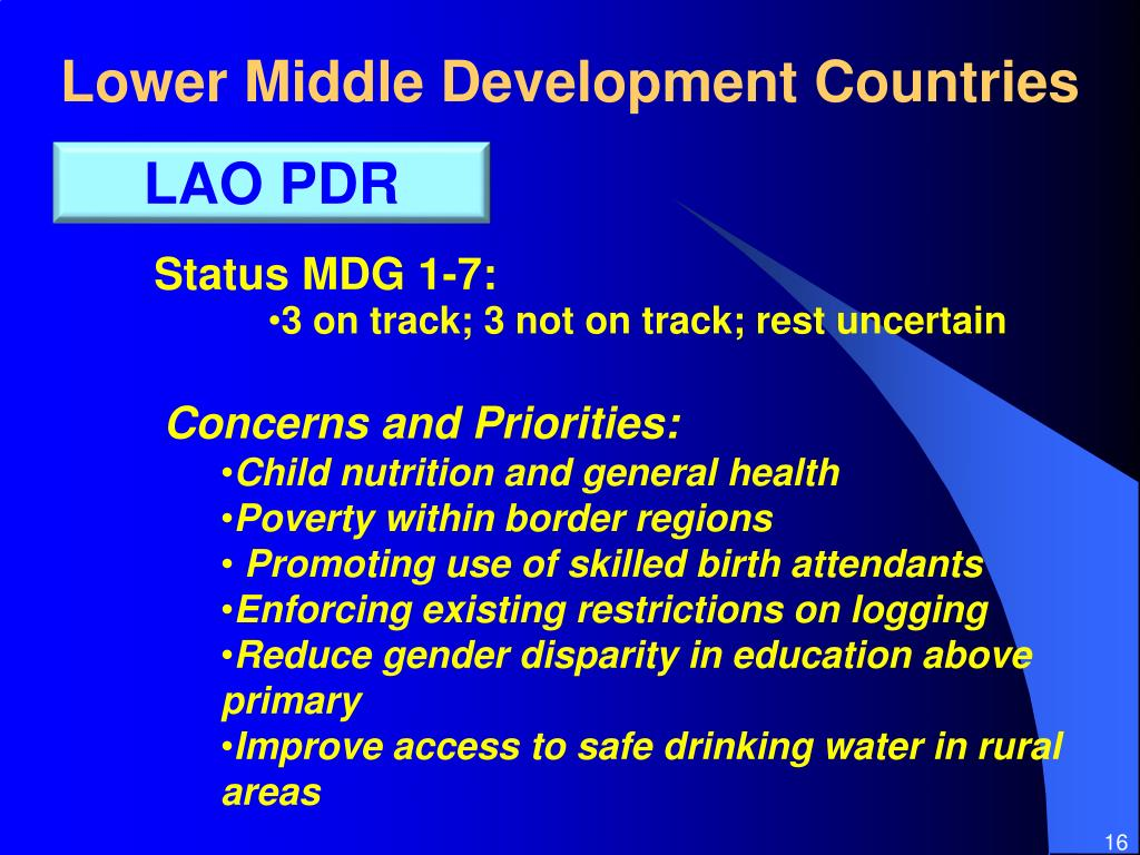Lower Middle Development Countries