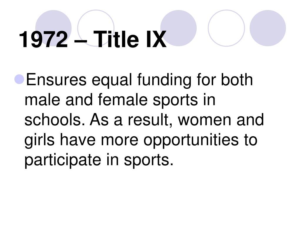 1972 – Title IX