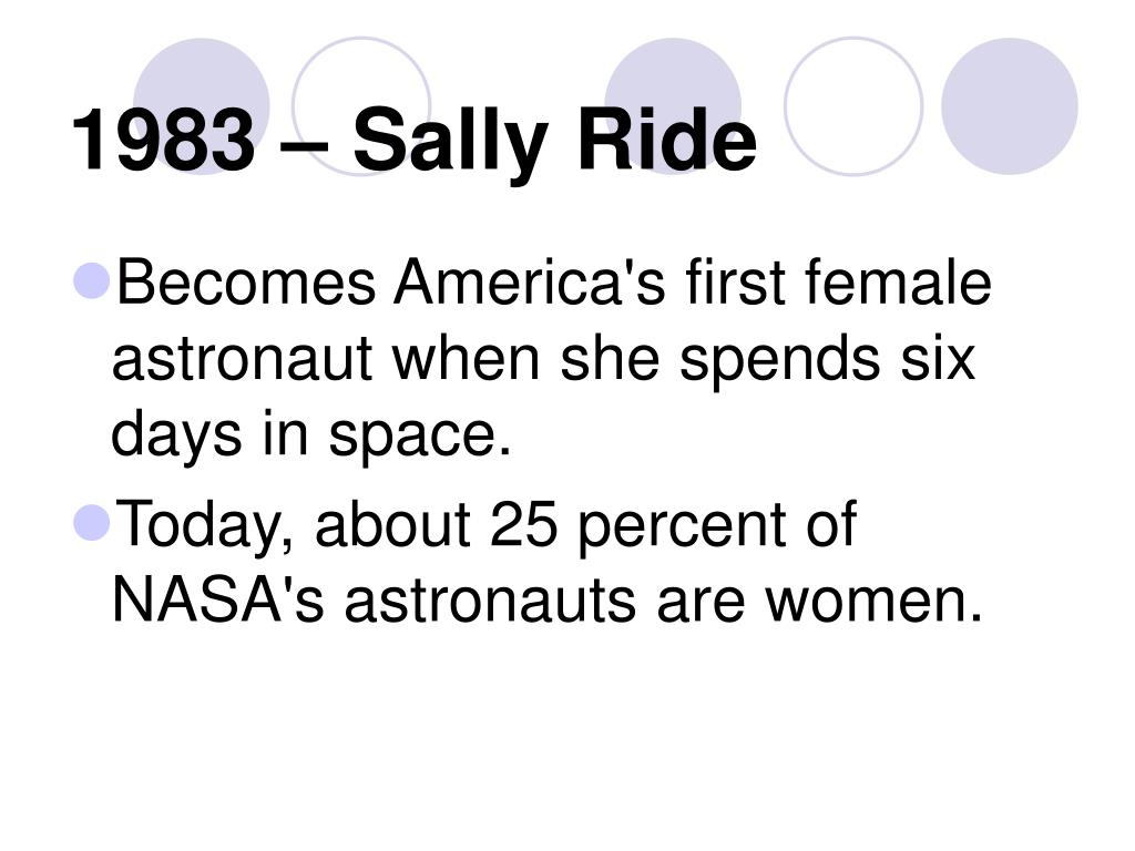 1983 – Sally Ride