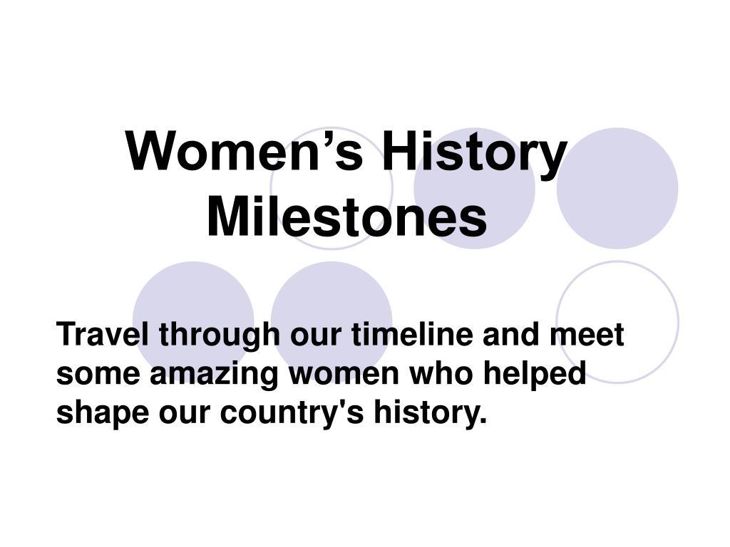 Women's History Milestones