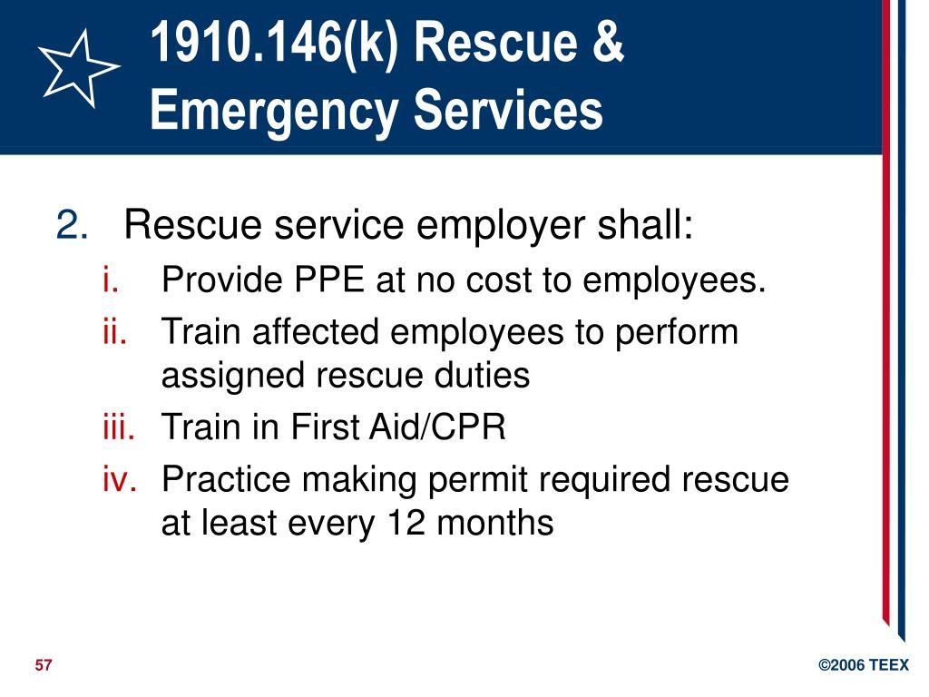1910.146(k) Rescue &