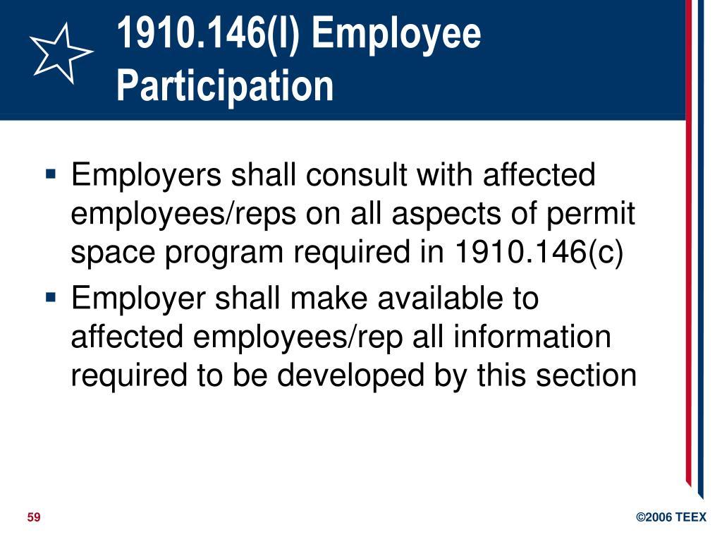 1910.146(l) Employee