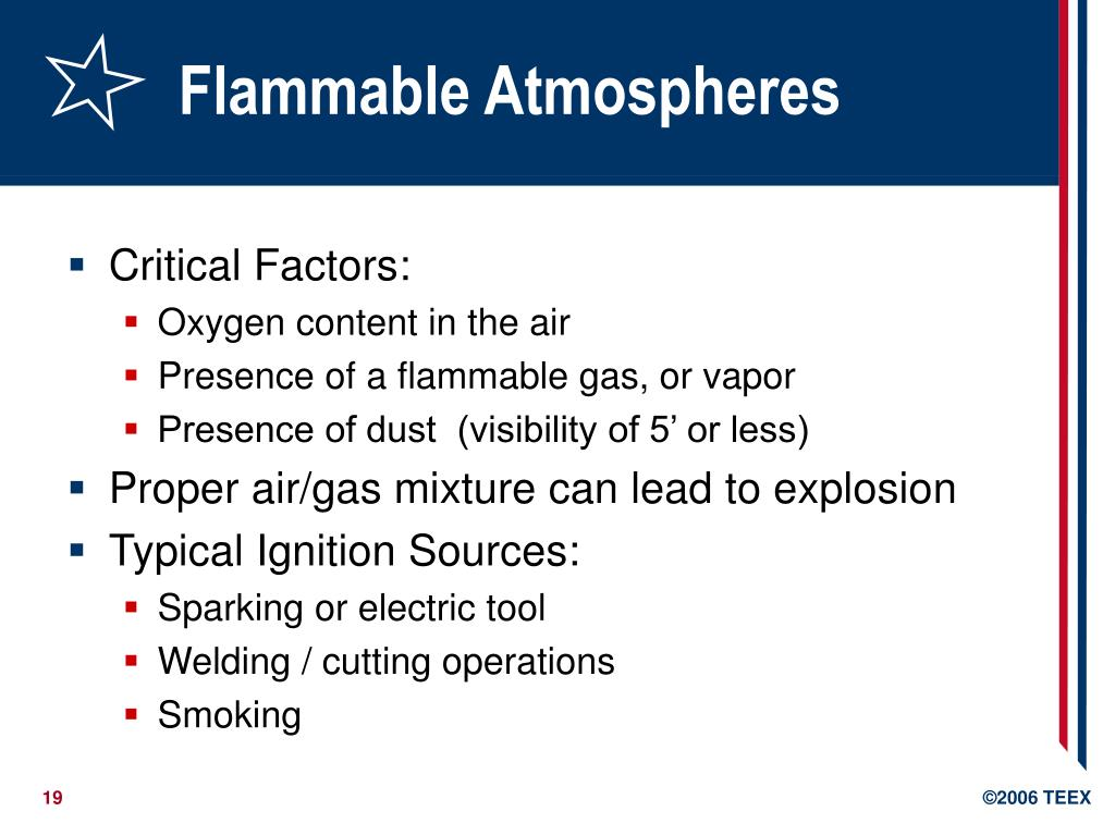 Flammable Atmospheres