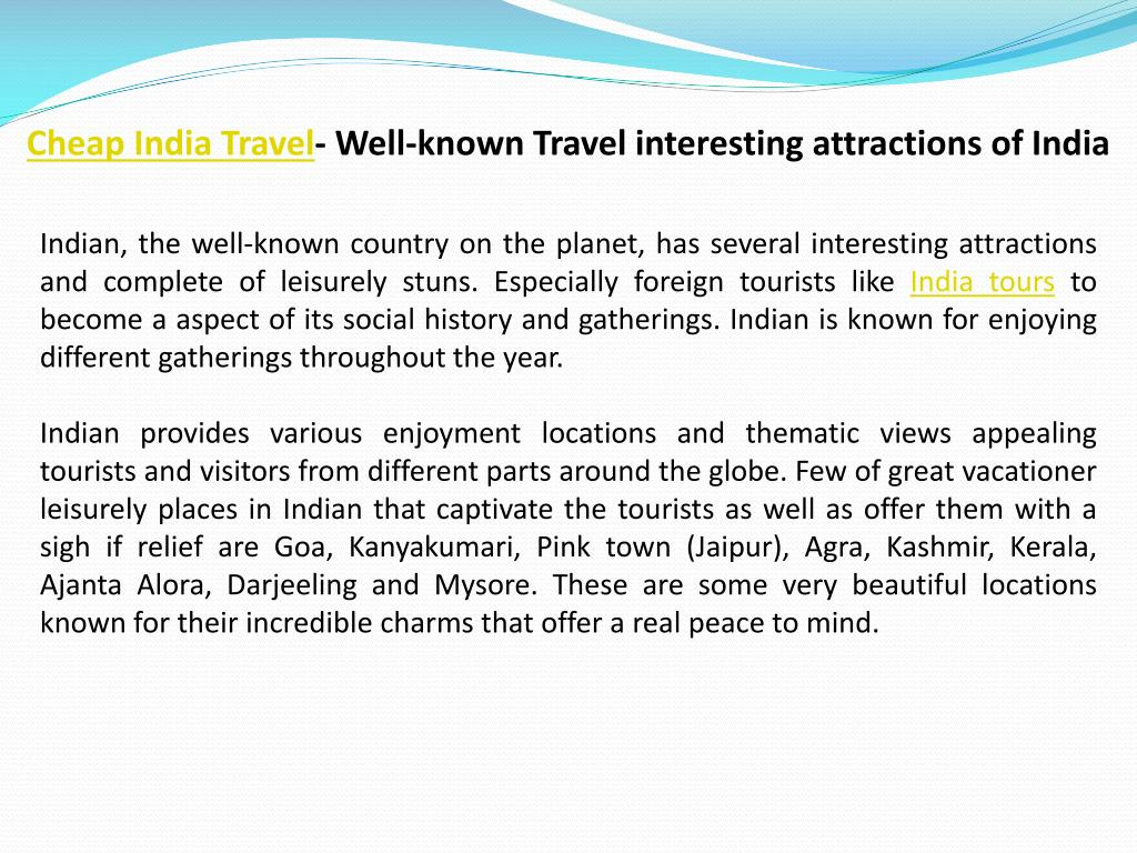 Cheap India Travel