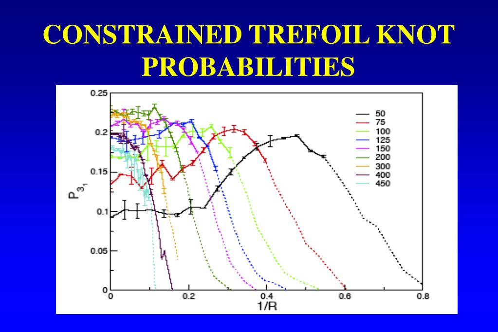 CONSTRAINED TREFOIL KNOT PROBABILITIES
