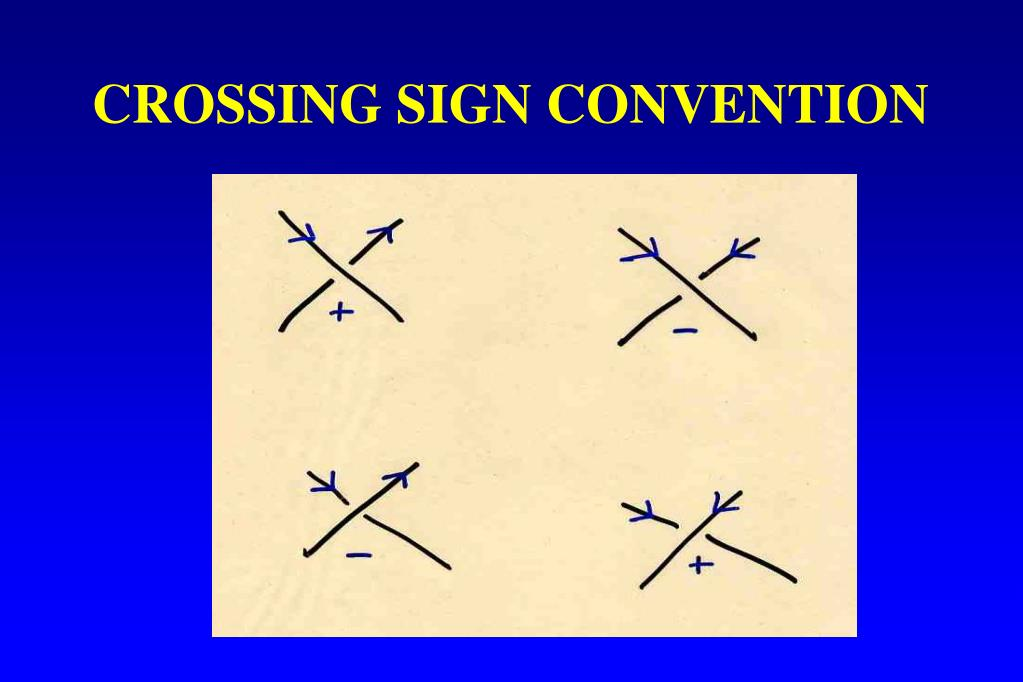 CROSSING SIGN CONVENTION