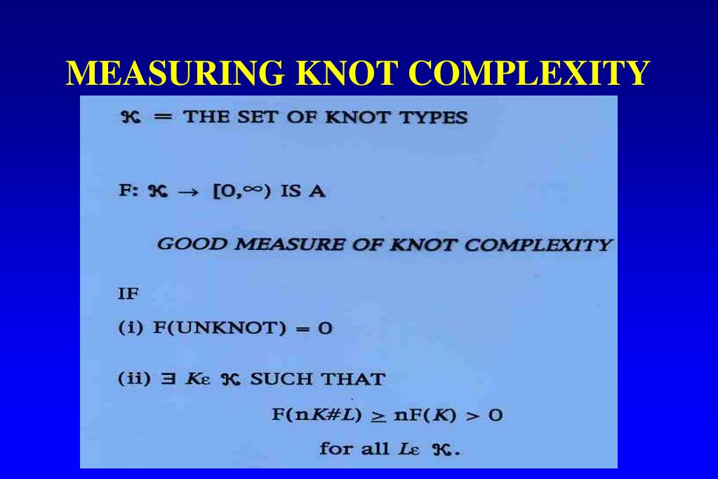 MEASURING KNOT COMPLEXITY