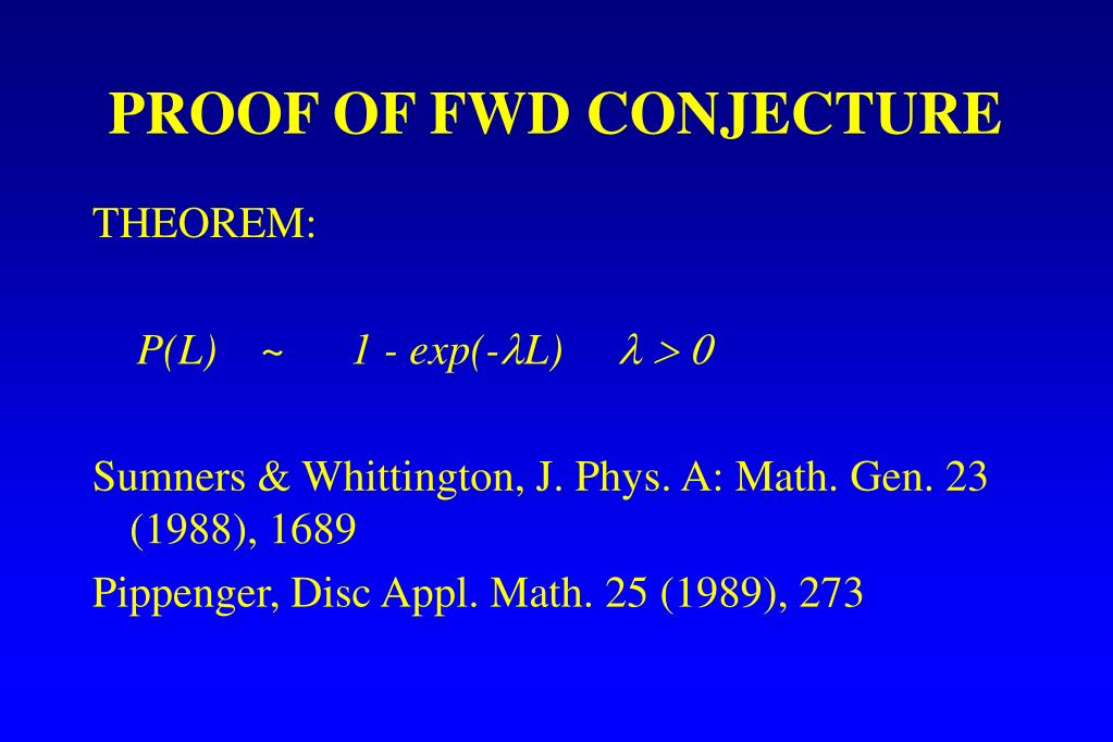 PROOF OF FWD CONJECTURE