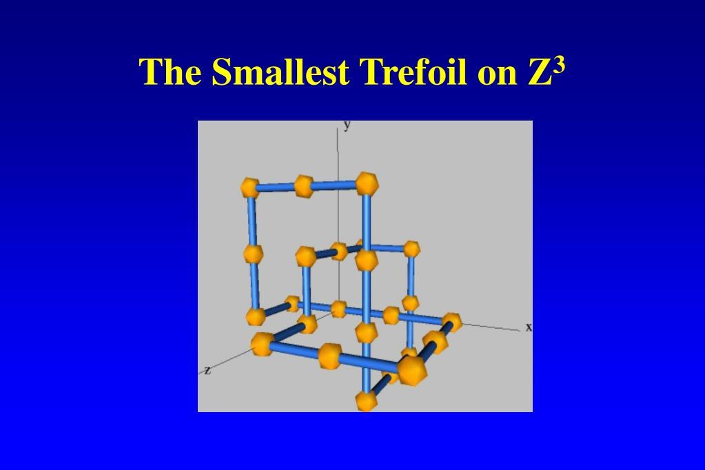 The Smallest Trefoil on Z