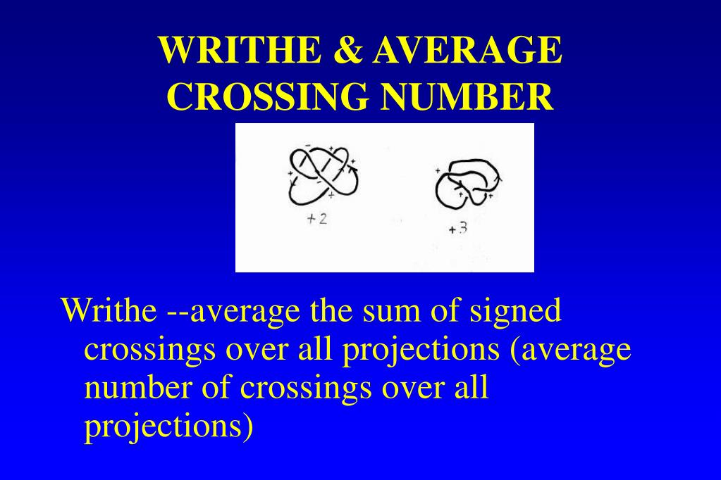 WRITHE & AVERAGE CROSSING NUMBER